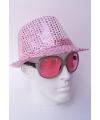 Glitter hoedjes roze