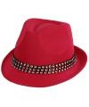 Roze feest hoeden met zilveren steentjes